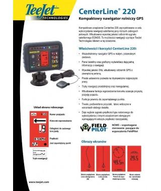 SYSTEM NAWIGACJI GPS TEEJET CENTERLINE 220 EGNOS
