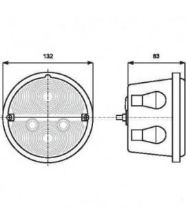 1400681110 Lampa zespolona tylna,W-16, 12 V lub 24 V,prawa c-330
